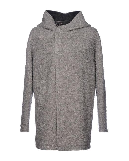 Alessandro Dell'acqua - Gray Coat for Men - Lyst
