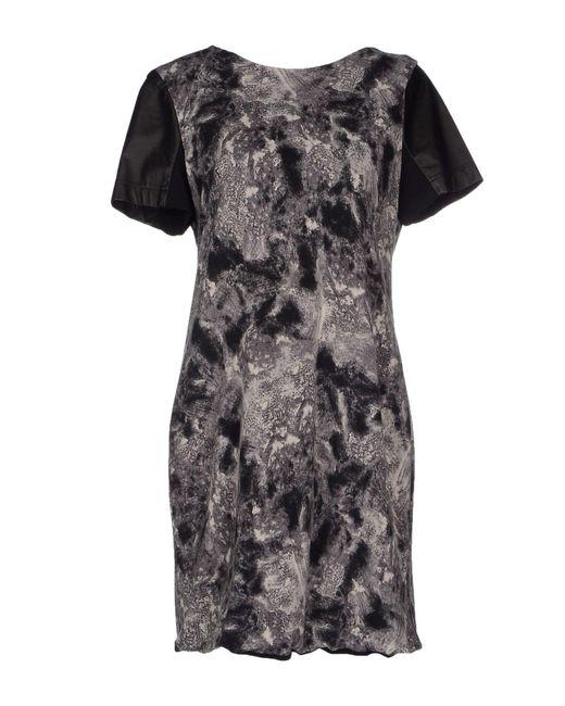 Cut25 by Yigal Azrouël - Gray Short Dress - Lyst
