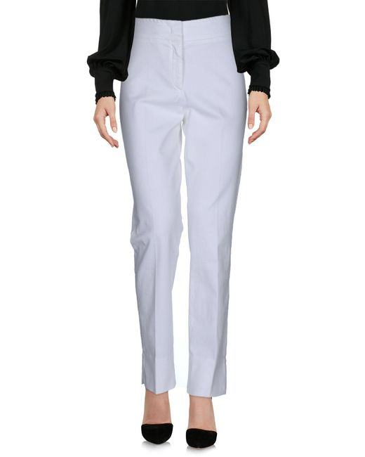 Armani | White Casual Trouser | Lyst