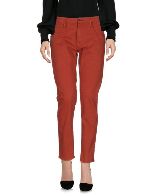 TRUE NYC | Red Casual Pants | Lyst