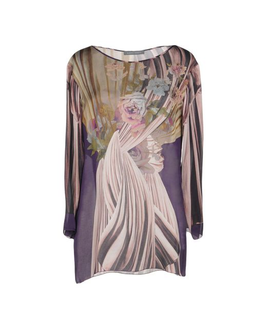 Alberta Ferretti - Purple Blouse - Lyst