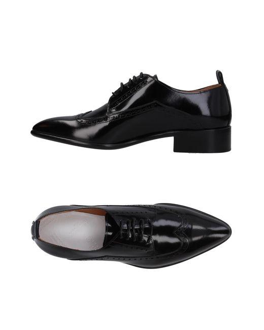 Maison Margiela - Black Lace-up Shoe - Lyst
