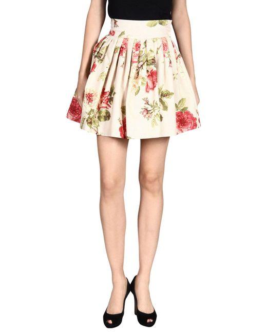 Marta Ferri - Natural Mini Skirt - Lyst