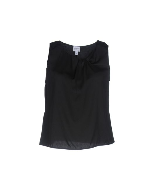 Armani - Black Tops - Lyst