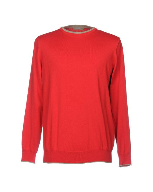 Andrea Fenzi - Red Sweater for Men - Lyst