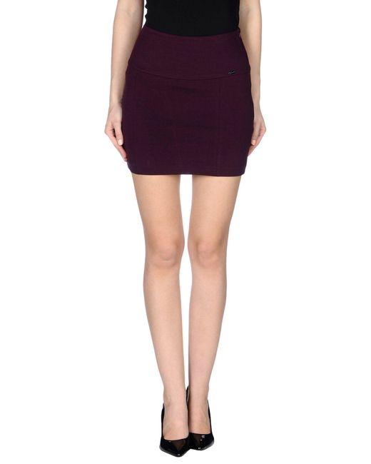 GAUDI - Purple Mini Skirt - Lyst