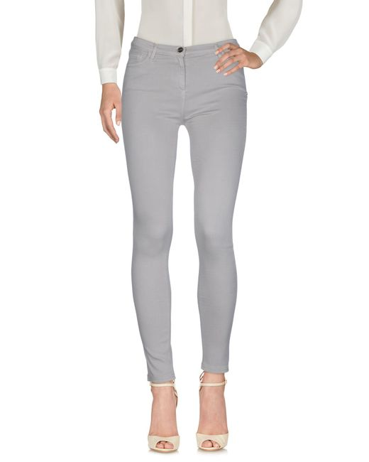 Who*s Who - Gray Who*s Who Casual Trouser - Lyst