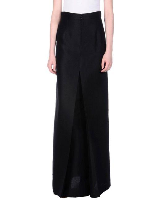 DSquared² - Black Long Skirt - Lyst