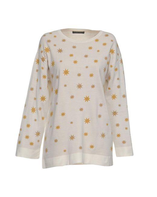 Alberta Ferretti - White Sweaters - Lyst