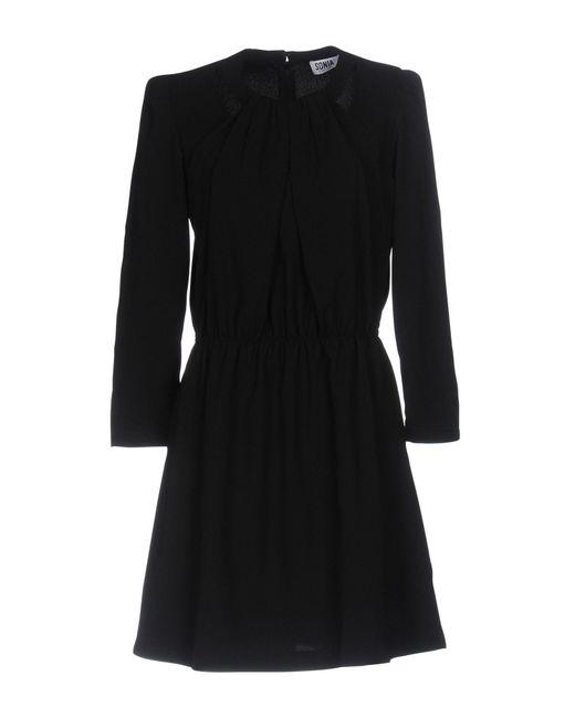 Sonia by Sonia Rykiel - Black Short Dress - Lyst