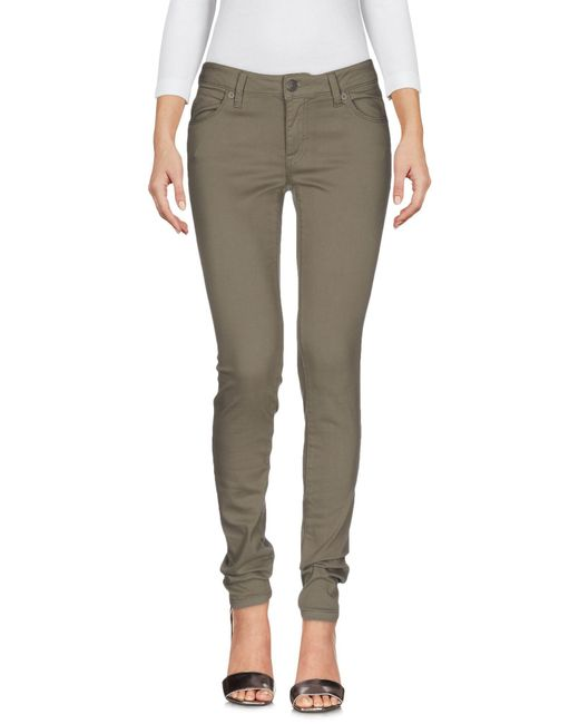 Burberry Green Denim Pants