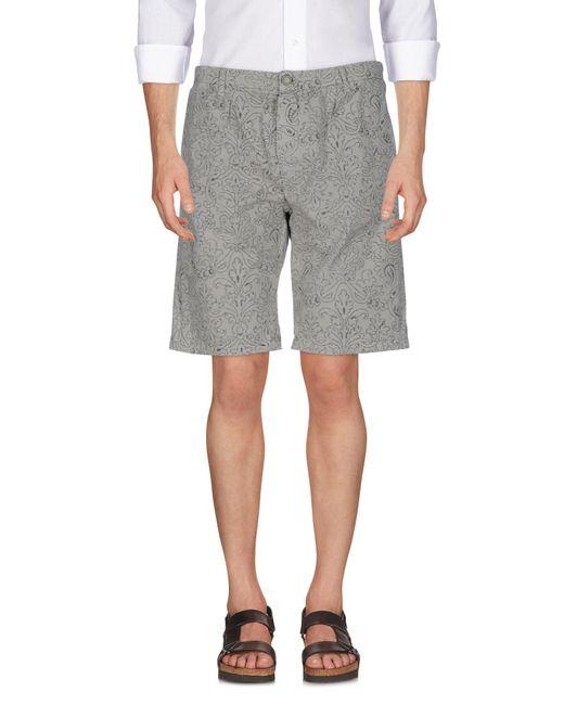 40weft - Gray Bermuda Shorts for Men - Lyst