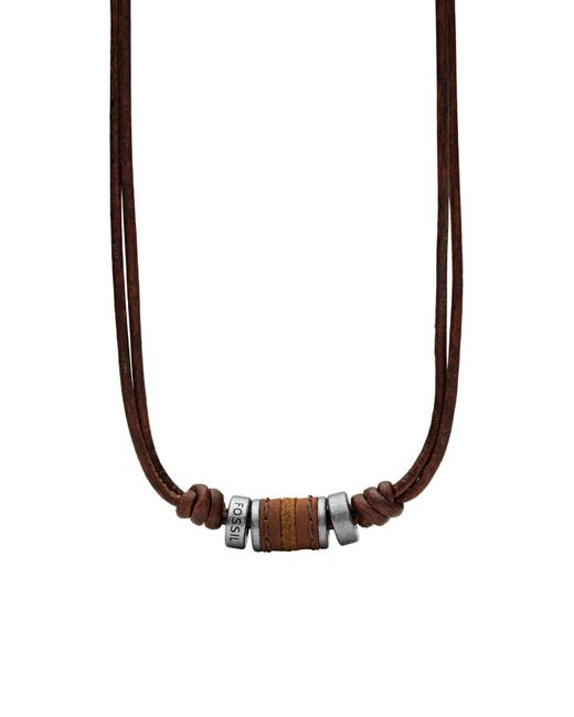 Fossil - Brown Necklace for Men - Lyst