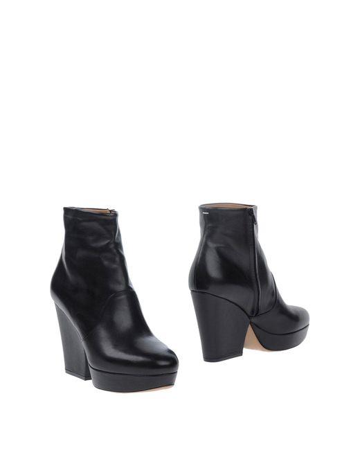Maison Margiela - Black Shoe Boots - Lyst