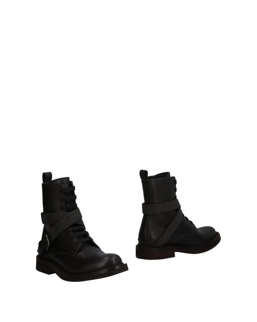 Brunello Cucinelli - Black Ankle Boots - Lyst