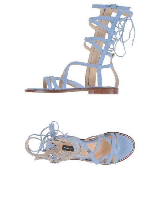 Pinko - Blue Sandals - Lyst