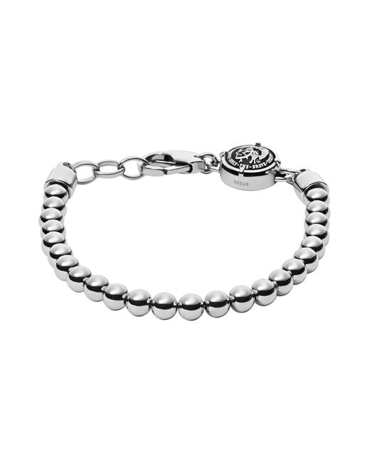 DIESEL - Gray Bracelets for Men - Lyst