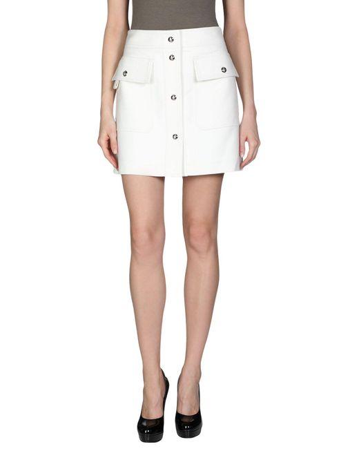 Emilio Pucci White Knee Length Skirt