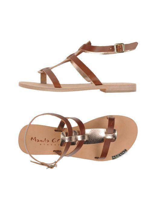 Manila Grace - Brown Sandals - Lyst