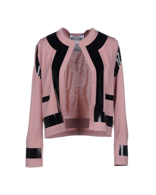 Moschino - Pink Cardigan - Lyst