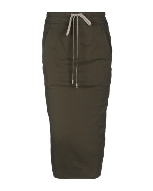 DRKSHDW by Rick Owens - Green 3/4 Length Skirt - Lyst