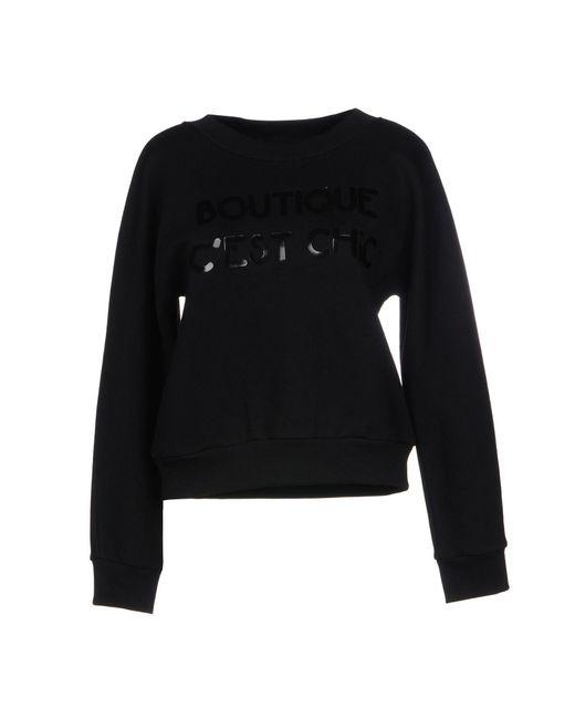 Boutique Moschino - Black Sweatshirts - Lyst