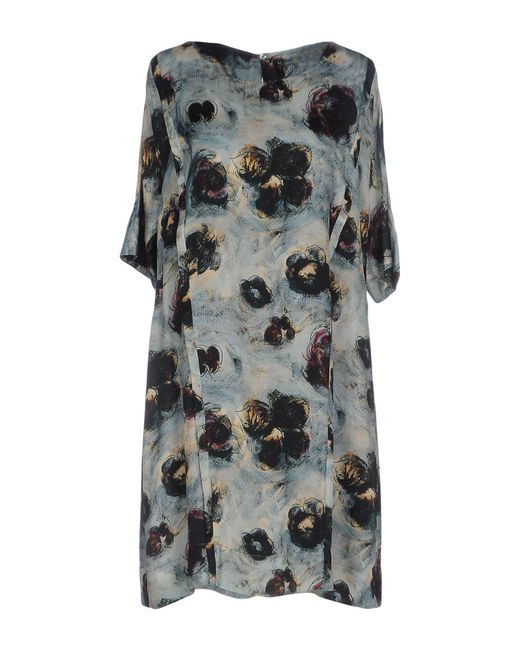 Manila Grace - Green Short Dress - Lyst