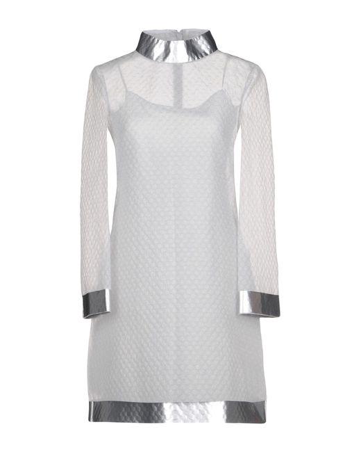Moschino - Gray Short Dress - Lyst