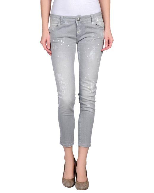 Carolina Wyser - Gray Denim Pants - Lyst
