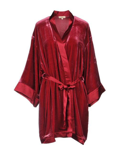 Lyst - Vivis Dressing Gown in Red