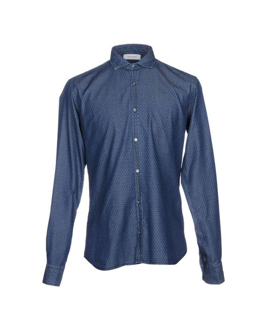 Aglini - Blue Denim Shirt for Men - Lyst