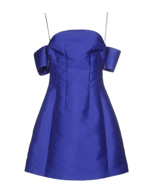 Carven | Blue Short Dress | Lyst