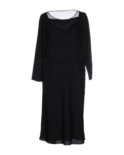 Boutique Moschino | Black Fine-knit Sweater Dress | Lyst