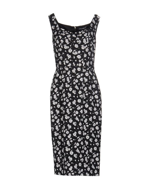 Dolce & Gabbana | Black Knee-length Dress | Lyst