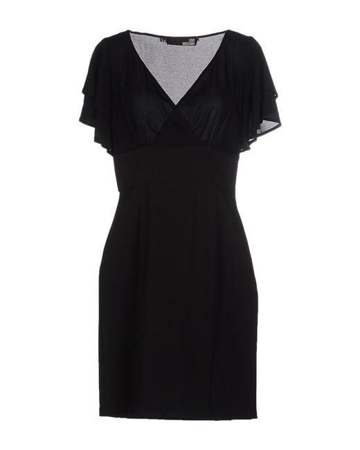Love Moschino | Black Short Dress | Lyst