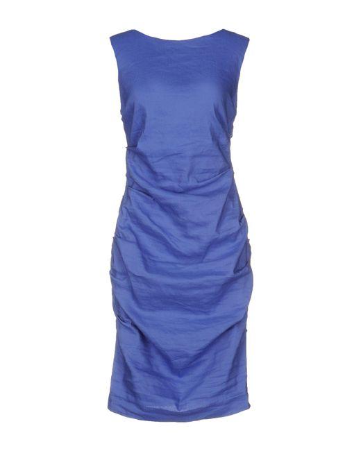 Nicole Miller Artelier | Purple Short Dress | Lyst