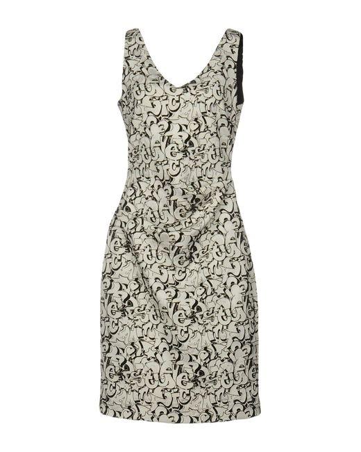 Nicole Miller Artelier | Gray Knee-length Dress | Lyst