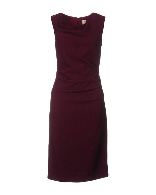 Nicole Miller Artelier   Purple Knee-length Dress   Lyst