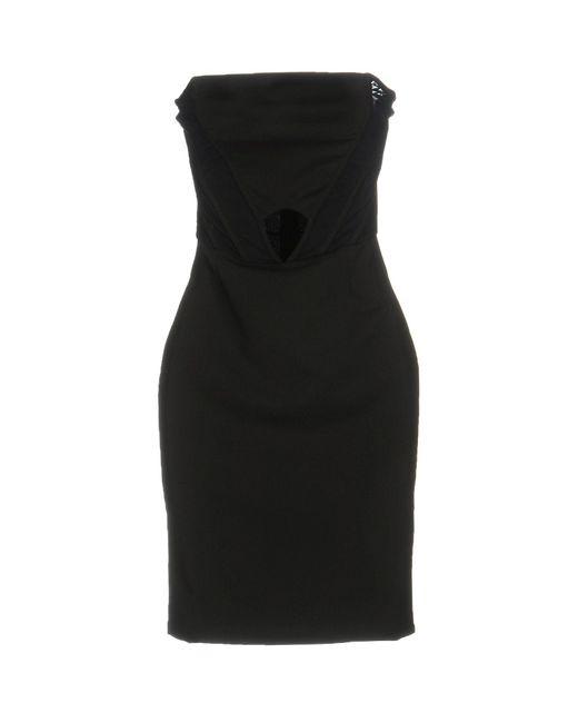 Met   Black Short Dress   Lyst