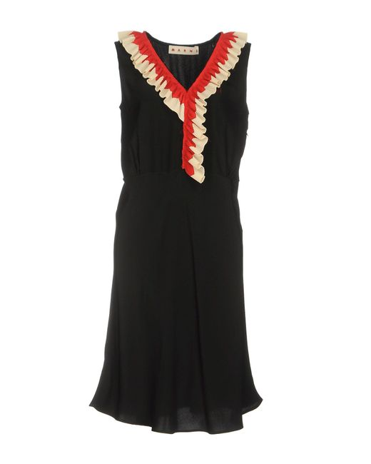 Marni   Black Knee-length Dress   Lyst