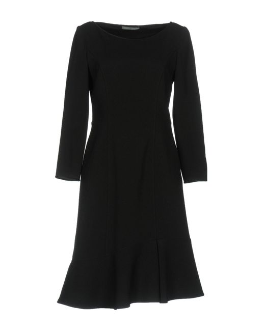 Alberta Ferretti | Black Smocked Silk-blend Dress | Lyst