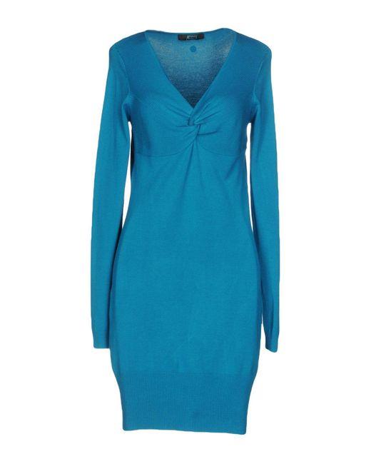 Guess | Blue Short Dress | Lyst