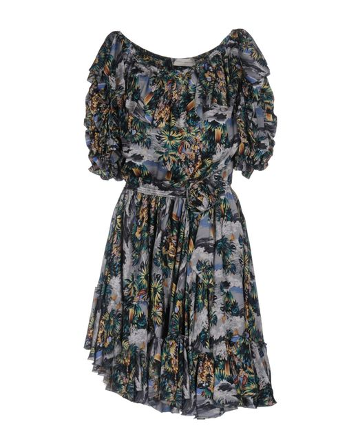 Faith Connexion | Green Short Dress | Lyst