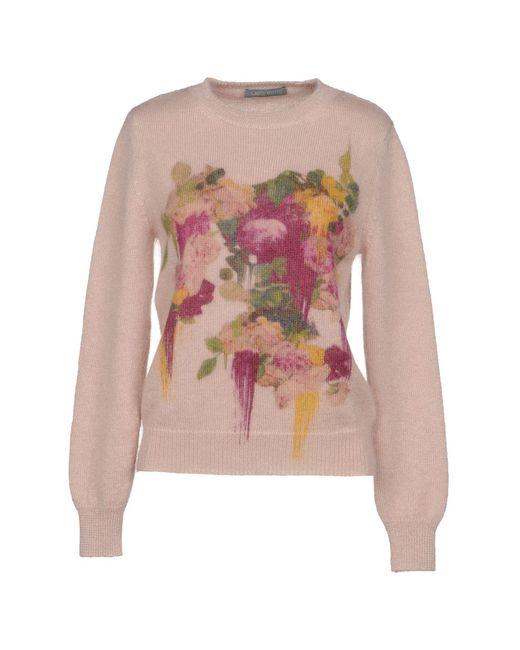 Alberta Ferretti - Pink Sweater - Lyst