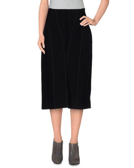 Jil Sander   Black 3/4 Length Skirt   Lyst