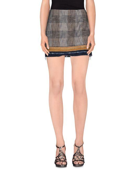 DSquared² | Gray Mini Skirt | Lyst