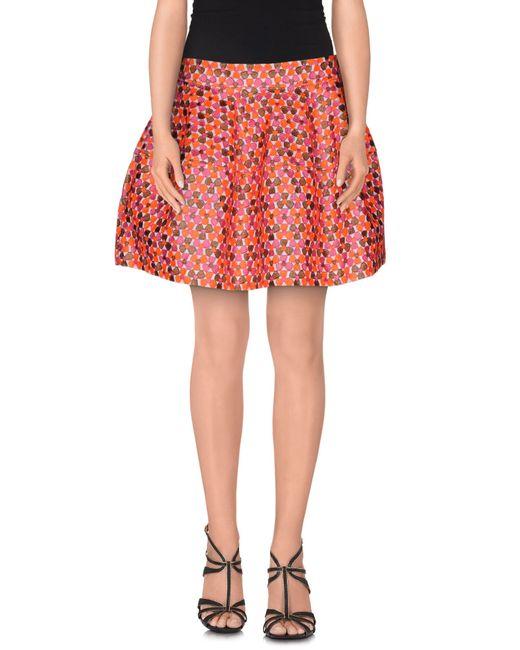 P.A.R.O.S.H. | Orange Mini Skirt | Lyst