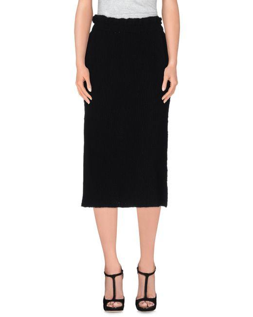 Comme des Garçons | Black 3/4 Length Skirt | Lyst
