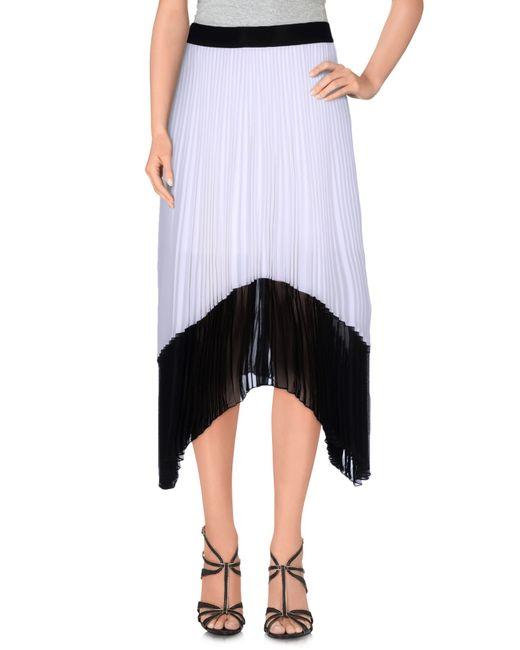 Pinko   White Knee Length Skirt   Lyst