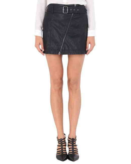 Free People | Black Mini Skirt | Lyst